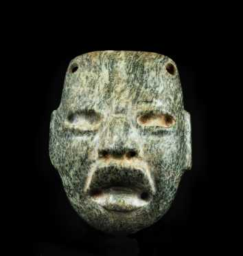 A Fine and Well Carved Olmec Maskette