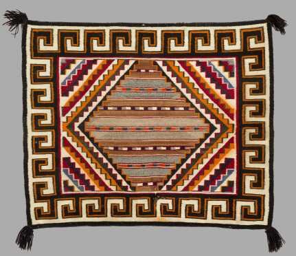 Southwest Navajo Made Small Rug