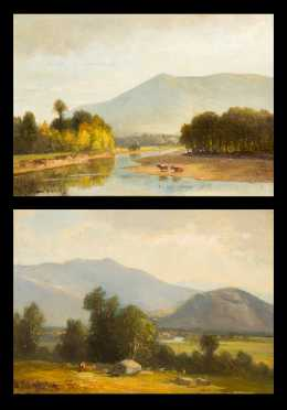 Benjamin Champney, Two Oil on Canvas & Oil on Board Paintings