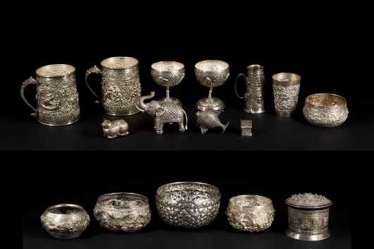 Asian Silver Tableware