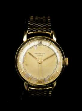 Patek Philippe Watch with 14kt. Gold Band
