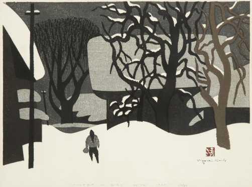Japanese Color Woodblock Print by Saito Kiyoshi