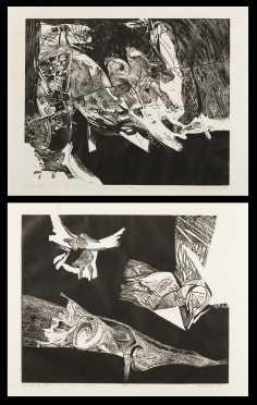 Arthur Deshaies (b. 1920), Two Lithographic Prints