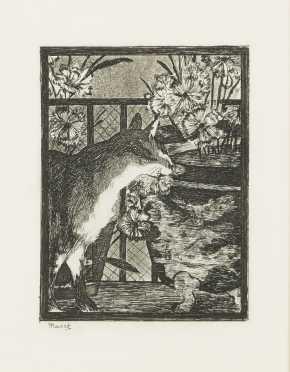 """Edouard Manet (1832-1883) """"Le Chat et Les Fleurs"""""""