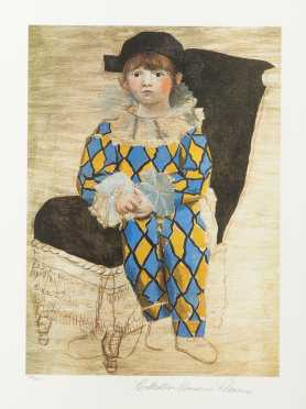 "Pablo Picasso (1881-1973), ""Paolo as Harlequin"""