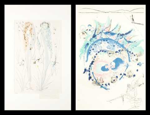 Two Salvador Dali Color Lithographs