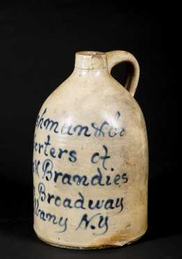 NY Stoneware Decorated Jug