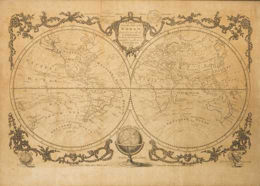 Millar, George H. A New and Accurate Map of the World... London, Alex. Hogg, 1782