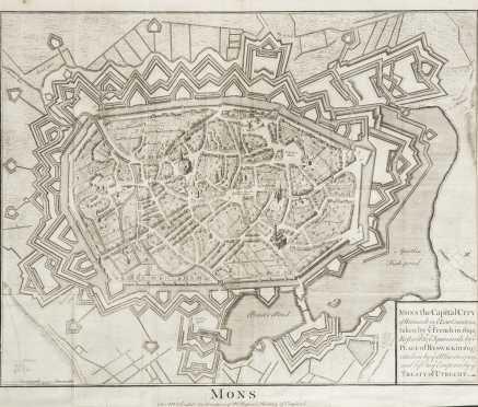 Tindal, Nicolas. 1747 view of Mons