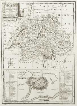 "Bowen, Eman.  ""A New and Accurate Map of Switzerland with its Allies and Subjects, composed.."""