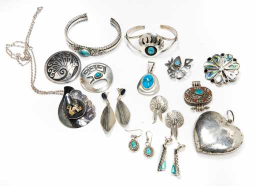 Lot of Silver and Sterling Silver Jewelry