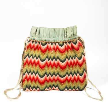 American Flame Stitch Ladies Purse