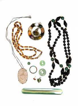 Lot of Mixed Hardstone Jewelry