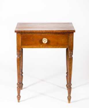 Mahogany Veneer Maple One Drawer Stand