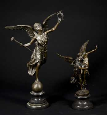 Two Bronze Figural Castings