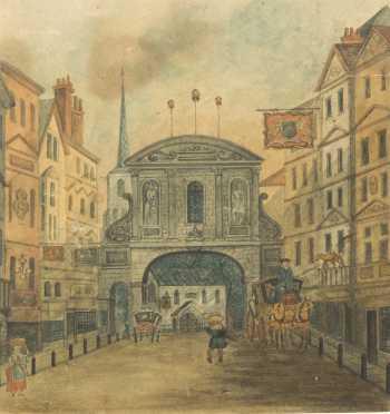English Watercolor Scene of London