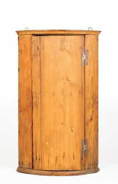 English Pine Hanging Corner Shelf