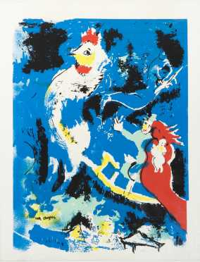 Marc Chagall, Russian/French (1887 -1985) Colored Lithograph