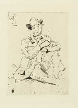 Paul Cezanne, French (1839-1906) Etching