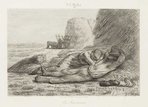 Jean-Francois Millet, French (1814-1875) Heliogravure