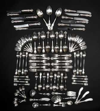 Sterling Silver Table Service for 12