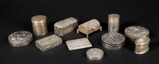 Asian Silver Boxes