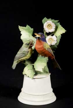Boehm Porcelain Figurine of 2 Nonpareil Buntings
