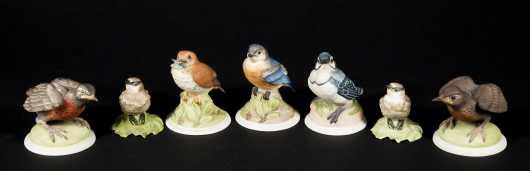 Seven Boehm Porcelain Songbirds