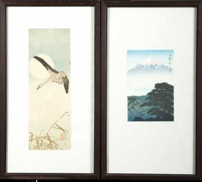 Kawase Hasui (1883-1957) and Japanese School Color Block Prints