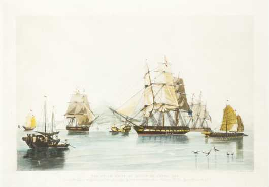 """The Opium Ships at Liatin in China, 1824"""