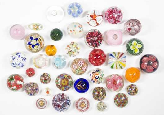 A Collection of 39 Paperweights