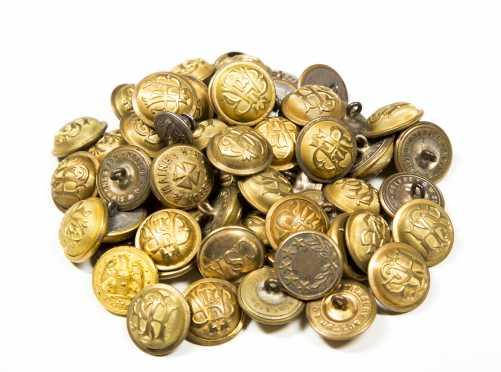 Brass Capped Uniform Buttons
