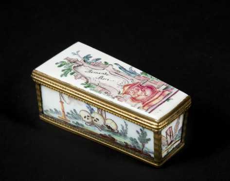 German/Austrian Porcelain Memorial Box