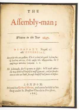 Birkenhead, Sir John.  The Assembly-Man