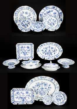 Large Collection of Blue Onion Pattern Meissen