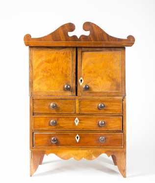 Miniature English Regency Dressing Cabinet