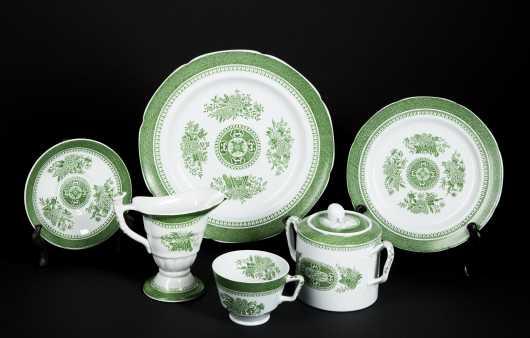 """""""Green Fitzhugh"""" Spode China Dinner Service"""