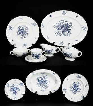 """Blue Sprays"" Royal Worcester China Dinner Service"