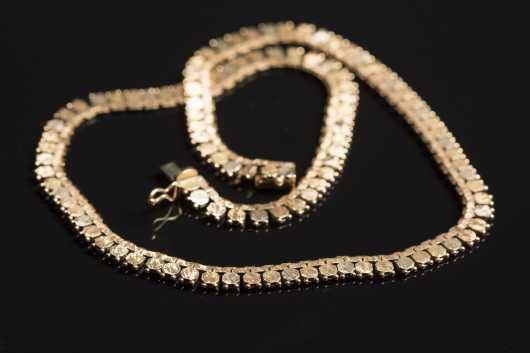 Tri-Color 18kt. Gold Necklace