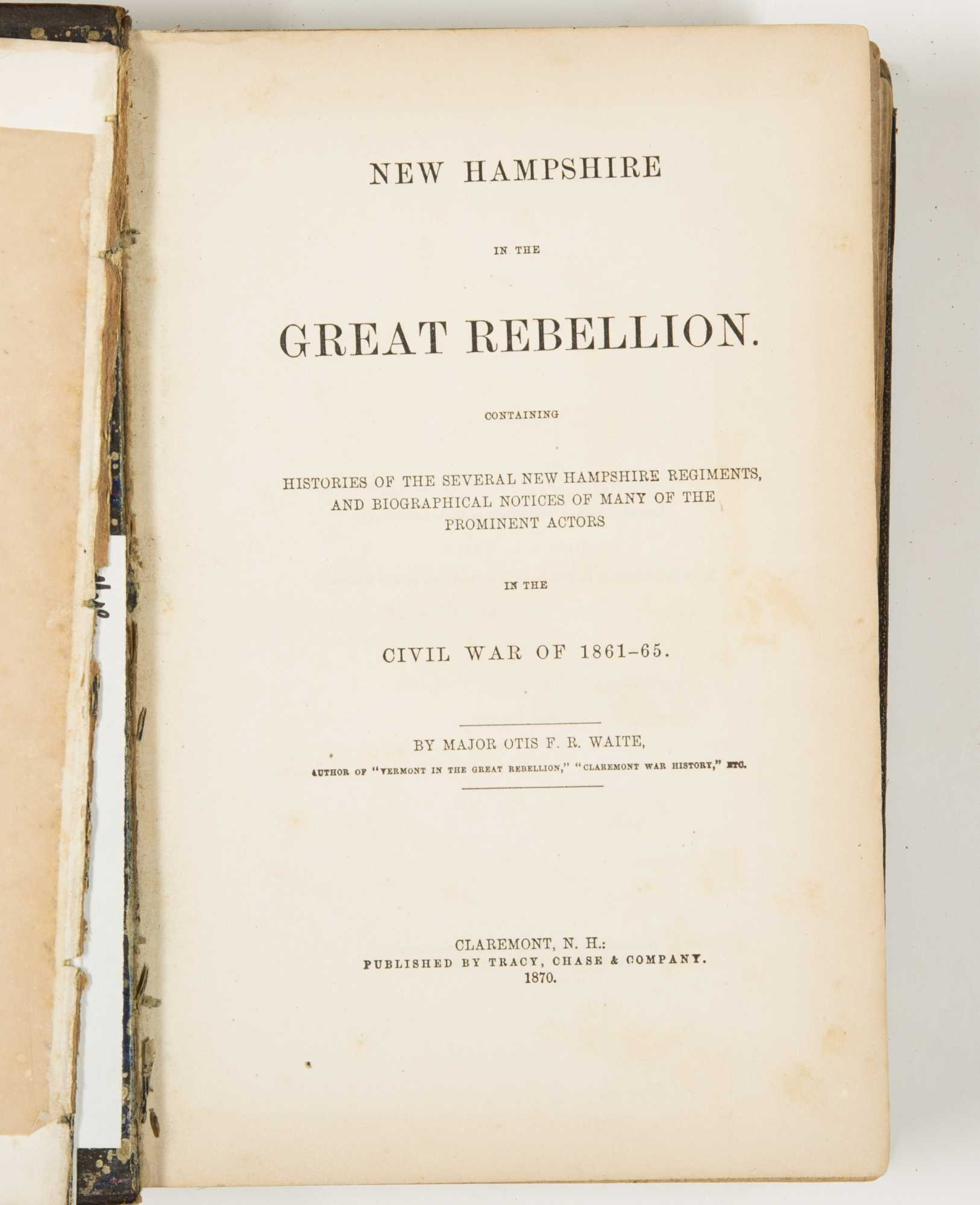 the history of the american civil war in the eyes of theodore gerrish Francis brown ii (1716 – )  during the american civil war,  all villains of american history tellingly,.