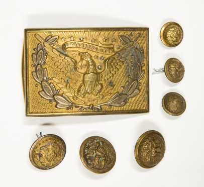 Belt Buckle and Officer's Buttons