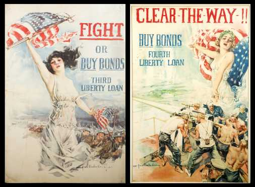 Two WWI US Propagada Posters, Howard Chandler Christy