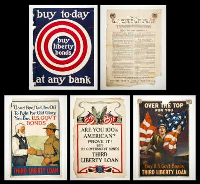 Five WWI US Propaganda Posters