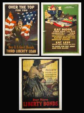Three WWI US Propaganda Posters