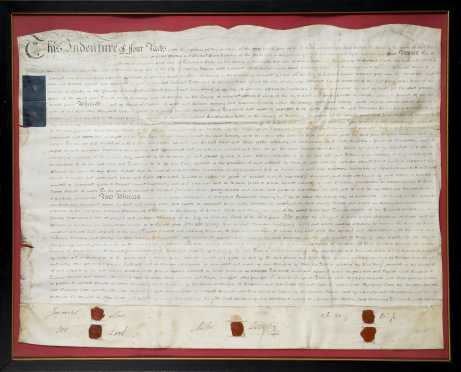 English Land Indenture--1804