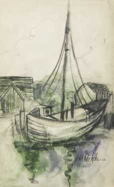 Pechstein, Hermann Max (German, 1881-1955) Maritime Study
