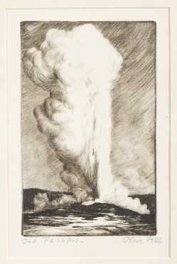 Olive Fell, Etching, 'Old Faithful'