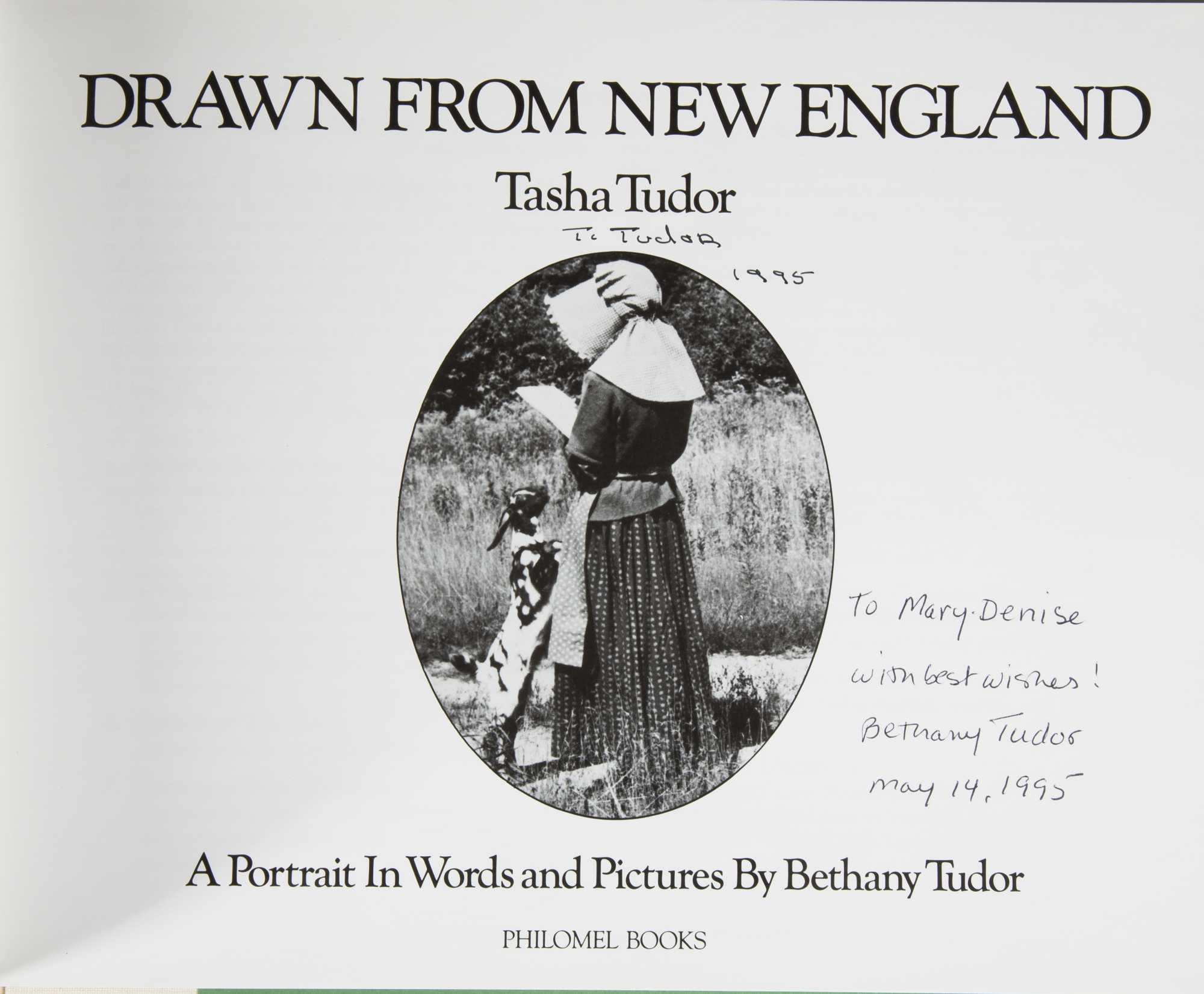Two signed tasha tudor books and two tudor illustrated for Tudor signatures