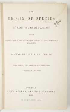 Darwin, Origin of Species, later edition.