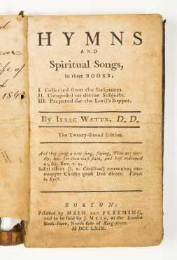 ISAAC WATTS, Hymns and Spiritual Songs, 1769